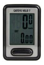Ciclo Computador Cateye Velo 7 Velocímetro 7 Funções Preto -