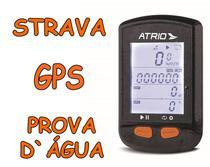 Ciclocomputador GPS Atrio Steel Ant+ Sensor Cadência Wireless Prova D'água BI132 Compatível Strava -