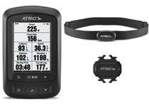 Ciclocomputador GPS Atrio Titanium Kit Bundle Autonomia 22h Bluetooth Ant+ Cinta Cardíaca e Sensor de Cadência - BI155 -