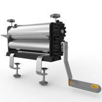 Cilindro Laminador de Massas Manual Anodilar Rolo Cromado 25cm -