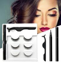 Cílios Magnéticos Kit Com 3 Pares Pinça e Caneta Delineadora - Belle Angel