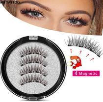 Cilios Postiços Magneticos 6D Natural Olho Inteiro 4 Imãs!!! - Magnetic eyelashes