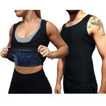 Cinta Camiseta Emagrecedora Esquenta Efeito Sauna Modelador Corporal Exclusivo -