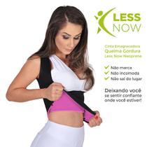 Cinta Emagrecedora Feminina Queima Gordura Less Now T-shirt  Rosa com Preto -