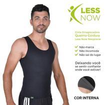 Cinta Emagrecedora MASCULINA Queima Gordura Less Now T-shirt Preta -