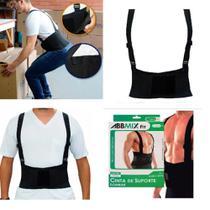 Cinta ergonomica reforcada proteção da coluna abdominal colete postural lombar dor costas - GIMP