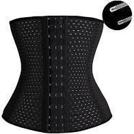 Cinta Faixa Modeladora Feminina Abdominal Afina Modela Cintura Redutora Reduz Medidas Abdômen - 25cm colchete barbatana - Needfeel