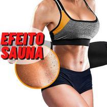Cinta Modeladora Abdominal Térmica Reduz Medidas Afina Cintura Calor Exercício Sauna Queima Gordura - Mbtech