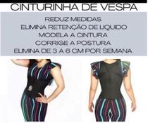 Cinta Modeladora Corpete C/ Alça Cinturinha De Vespa + Gel TAMANHO G - Fine Grey