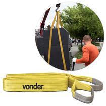 Cinta para Elevação de Cargas Vonder CE360 Capacidade de Até 3 Toneladas 6 Metros Poliéster Amarelo -