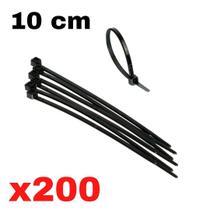 Cinta plastica 10 cm abraçadeira nylon preta 1,0 x 2,5 x 100 mm 200 unidades presilha plastica fita nilon - SDM ABRAÇADEIRAS