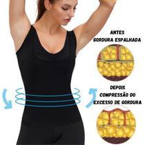 Cinta Regata Modeladora Slim Efeito Sauna Suor Emagrece Peso Fitness -