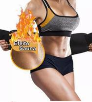 Cinta Térmica Ajustável Modeladora Cintura Abdominal Fitness - Lullu Person