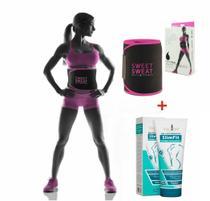 Cinta Térmica Ativadora Sweet Sweat + Gel Lipo Redutor -