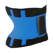 Cinta Térmica Redução Abdominal Diminui Calorias Cintura Fina Modelada Conforto Althor Azul Unissex -