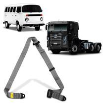 Cinto de Segurança 3 Pontos Dianteiro Traseiro Caminhão Kombi 1957 a 2014 Cinza Estático - Dialp