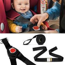 Cinto de Segurança Universal Para Bebê Conforto 5 Pontos Ajustável Preto - Dialp