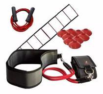 Cinto De Tração Fixo com 4 Elásticos + 10 Chapéu + Escada + Corda De Pular - Mp Sports