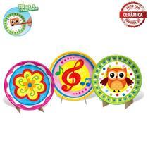 Cj de Pratos Porcelana 3 pçs Art & Craft ZP00230 Zoop Toys -