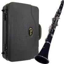 Clarinete Shelter Tjs6402 Niquelado Bb Com Hard Case -