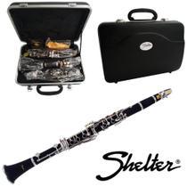 Clarinete Sib 17 Chaves c/ Estojo e Boquilha SFT6402E - Shelter -