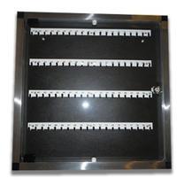 Claviculário (organizador) de Chaves em Alumínio porta em Acrílico para 50 chaves - Ati Glass