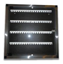 Claviculário (organizador) de Chaves em Alumínio porta em Acrílico para 60 chaves - ATI GLASS