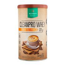 Cleanpro whey proteina iso e hidro 450g cappuccino - nutrify -