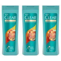 Clear Anticaspa Antipoluição Shampoo 200ml (Kit C/03) -