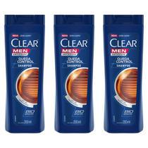 Clear Men Queda Control Shampoo 200ml (Kit C/03) -