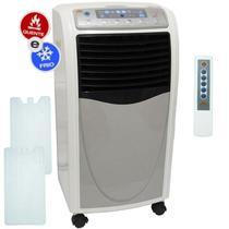 Climatizador Aquecedor de Ar Portátil Quente Frio 6,8 L Mg Eletro 220V Timer 3 Velocidades Controle -