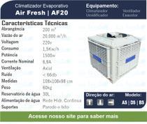 Climatizador Evaporativo Air Fresh com 20.000m3/h de vazão -