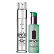 Clinique Sabonete Líquido + Anti-Idade para Olhos Kit - Liquid Facial Soap Oily Skin + Smart Custom Repair Eye Treatment -