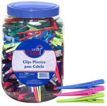 Clips Plástico Para Cabelo Pote Com 250 Unidades - Santa Clara -