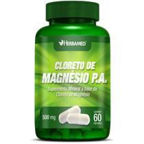 Cloreto de Magnesio PA 500mg 60 Cápsulas - Herbamed -