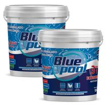 Cloro para Piscina 3 em 1 Economic Balde 10 KG 251910B Kit 2 Unidades Bluepool by FLUIDRA -