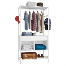 Closet Modulado Arbus (L: 90cm) C/ 2 Gavetas E 2 Nichos Branco - Artefamol