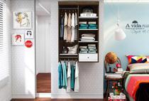 Closet Suspenso Móveis Albatroz Cedro/Branco Jubilo -