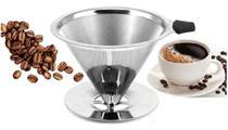 Coador Café Filtro Peneira Aço Inox Pour Over Reutilizável - Unica