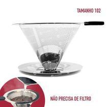 Coador Filtro De Café Permanente Em Aço Inox Grande - Outros