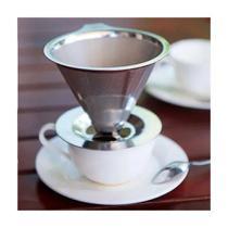 Coador Filtro Permanente Suporte Cafe Aço Inox Reutilizável - Shopud