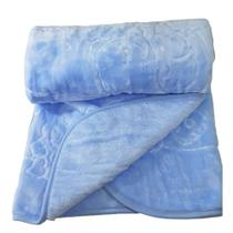 Cobertor Bebe Frio Intenso Menino Urso 0,90cmX1,05m Toque Macio Antialergico - Dardara