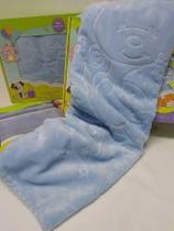 Cobertor Bebê Infantil Touch Texture Raschel C/ Relevo Jolitex Azul - Jolitex Ternille