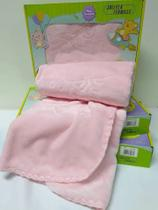 Cobertor Bebê Infantil Touch Texture Raschel C/ Relevo Jolitex Rosa - Jolitex Ternille