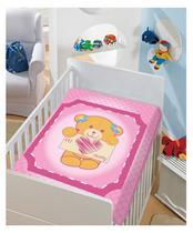 Cobertor Bebê Pink Eu Amo Mamãe 0,90 x 1,10m Jolitex -