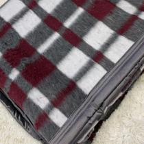 Cobertor Boa Noite Guaratinguetá Xadrez Solteiro 1,40x2,20 -