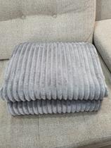Cobertor canelado aveludado cinza - Habitat