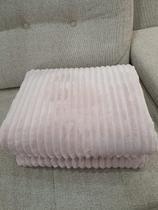 Cobertor canelado aveludado rosa - Habitat