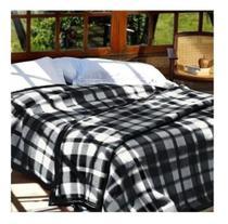 Cobertor Casal Boa Noite Guaratinguetá Xadrez Casal 1,40x2,20 -