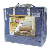Cobertor Casal Europa Toque de Luxo 180 x 240cm - Índigo -